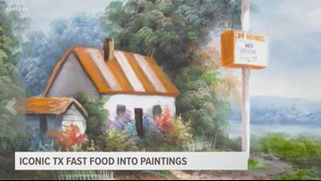 Iconic Texas Fast Food into Paintings