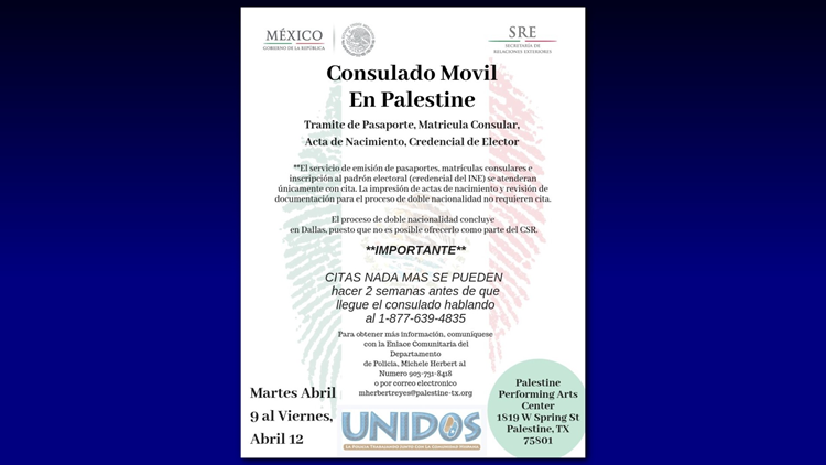 Mexican Consulate on Wheels returns to Palestine | cbs19 tv