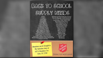 DOING THE MOST GOOD: Salvation Army in Tyler collecting supplies for upcoming school year
