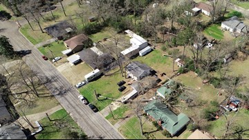 Kilgore officials estimate 160 homes damaged in storm as city-wide cleanup continues