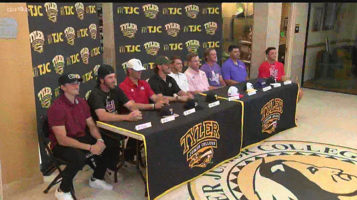 TJC has 9 Apache Baseball players sign NLI's to play at the next level