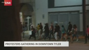 Protesters gather in downtown Tyler for 3rd straight day