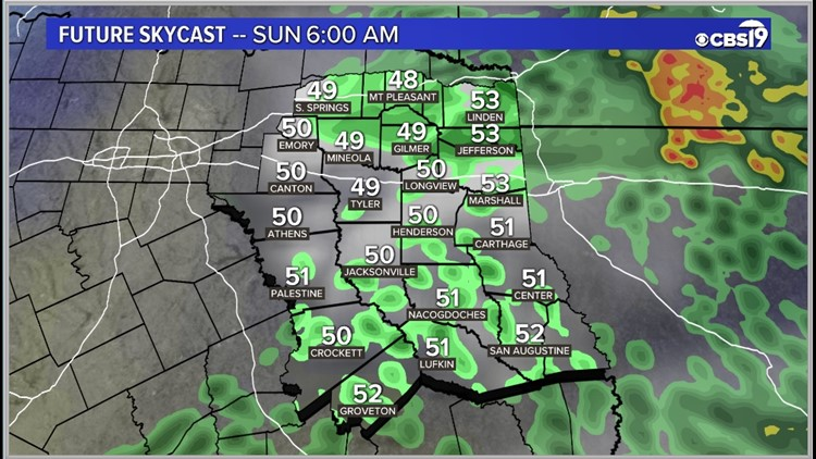 Clouds and rain will move back in by the end of the day Saturday!