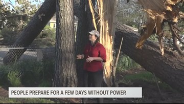 People in Kilgore are preparing for days without power