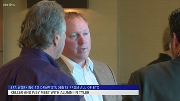 SFA's Keller and Ivey make a stop in Tyler