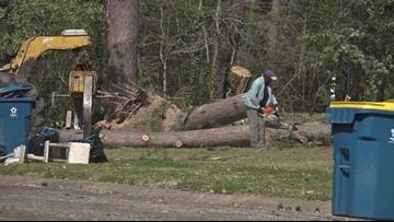 Clean Up Still Underway Following Storm in Kilgore