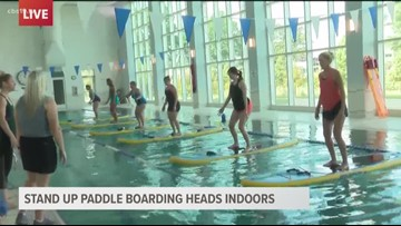 Paddle boarding for your health rain or shine