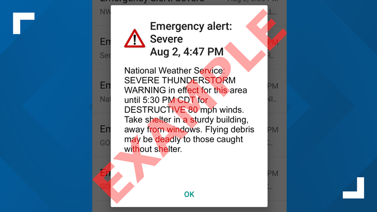 National Weather Service to activate emergency alert on smartphones for severe thunderstorms deemed 'destructive'
