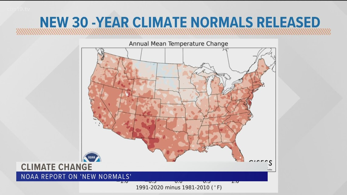 NEW 30-YEAR CLIMATE NORMALS RELEASED