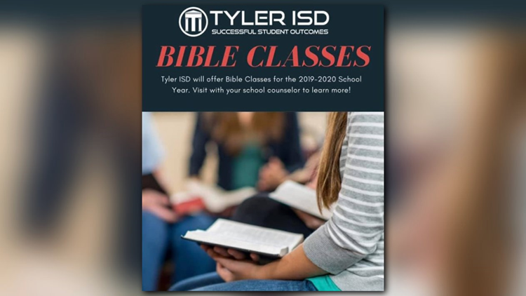 Tyler ISD to offer social studies electives based on Bible for 2019-20 school year