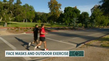 Face masks and outdoor exercise during COVID-19