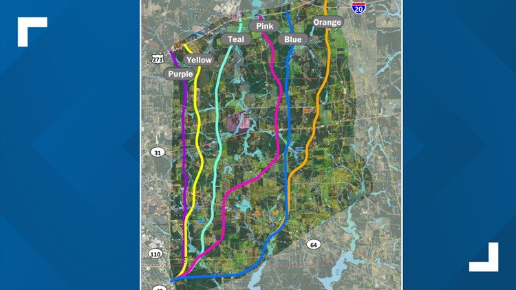 Toll 49 Segment 6 Proposed Route Options