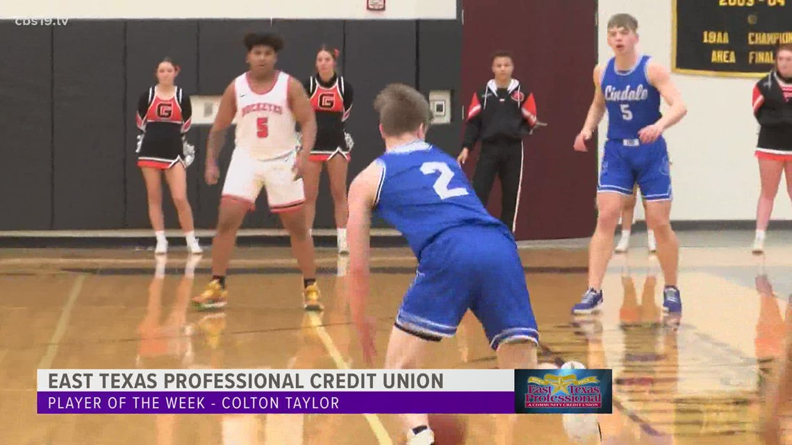 East Texas Professional Credit Union Player of the week - Lindale's Colton Taylor