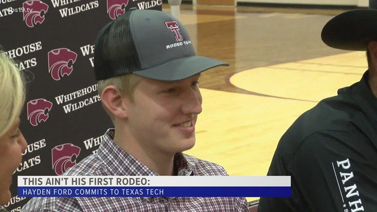 NOT HIS FIRST RODEO: Whitehouse Senior Hayden Ford inks National Letter of Intent to Texas Tech for rodeo