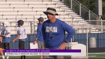 Spring Hill football coach will resign