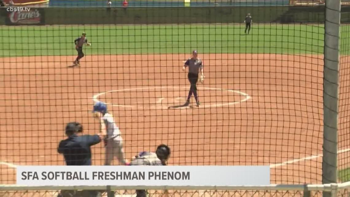 "SFA freshman phenom wins USA Softball ""Collegiate Player of the Week"" award"
