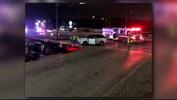 Troup Highway reopened following two-vehicle crash