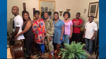 MILITARY HOMECOMING: Sweet 4th of July surprise