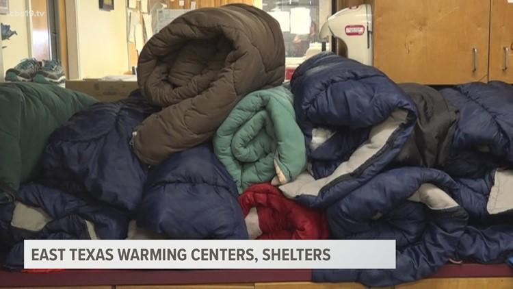 LIST: Warming shelters open across East Texas
