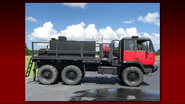 Military truck begins new life with Jackson Heights VFD