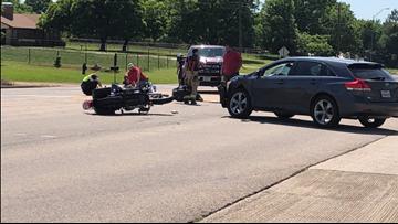 Emergency crews responding to SUV vs. motorcycle crash on Highway 64