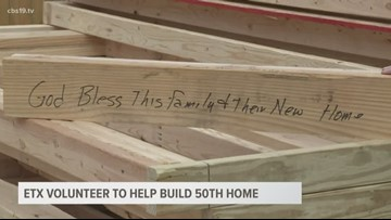 Long-time Habitat for Humanity volunteer prepares to help build 50th and final home