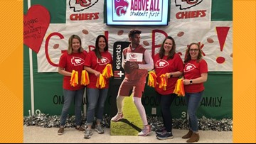 FROM MAROON TO RED: Whitehouse ISD goes 'RED OUT' in support of native Patrick Mahomes