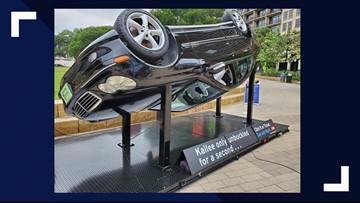Heartbreaking sculpture's sobering message on seat belt safety