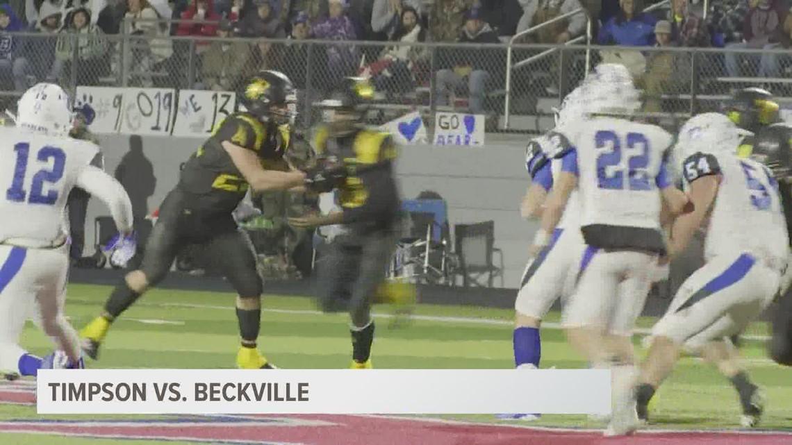 UNDER THE LIGHTS: Timpson beats Beckville 55-14