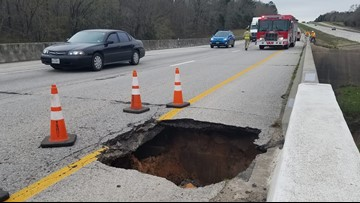 TxDOT: Sinkhole repairs complete, traffic back to normal