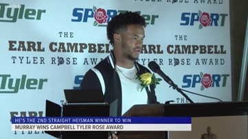 Kyler Murray wins Earl Campbell Tyler Rose Award