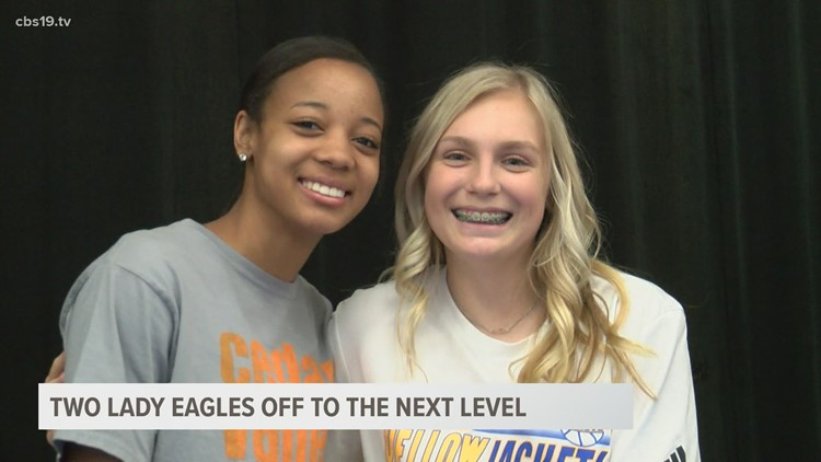 2 Lindale Lady Eagles sign National Letters of Intent