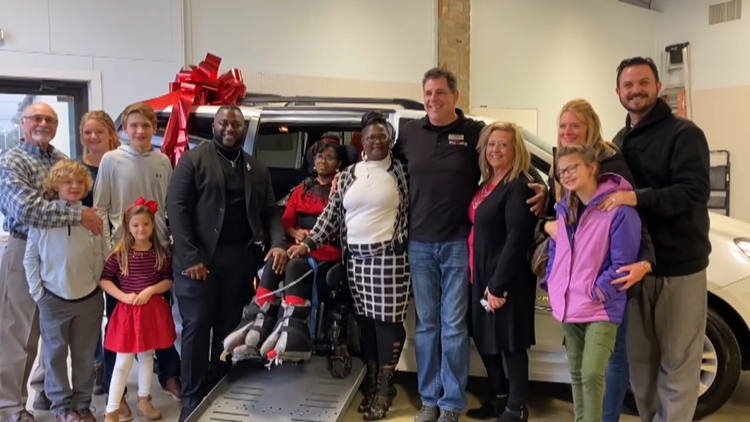 East Texas families surprised with wheelchair-accessible vehicles for Christmas