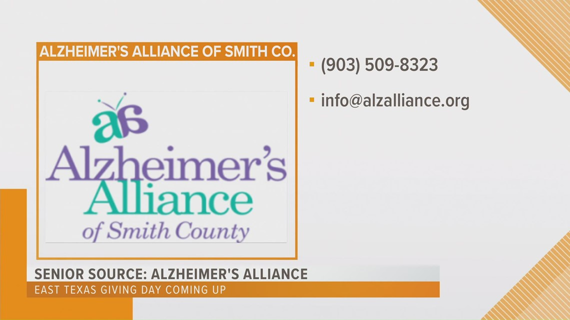 SENIOR SOURCE: How to help Alzheimer's Alliance of Smith Co. on East Texas Giving Day