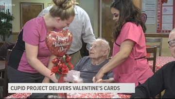 Cupid Project delivers Valentine's Cards to nursing homes, hospitals, homeless shelters