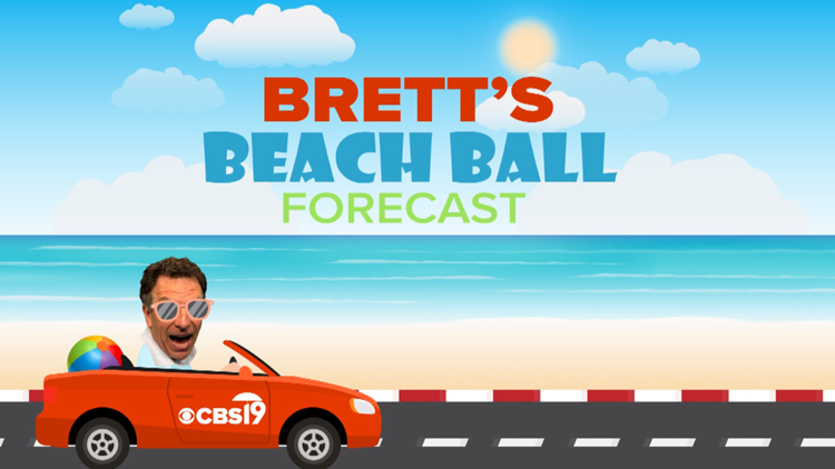 Heading to the beach this weekend? Brett Anthony's got you covered with Brett's Beach Ball Forecast!