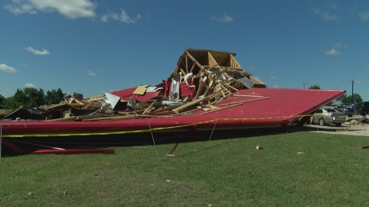Tornado flattens prom venue, leaves survivors untouched
