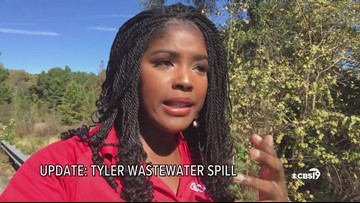 Tyler Sewage Spills Into Second Day