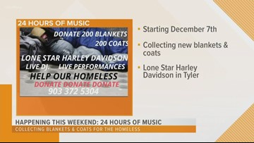 24 hours of music: Collecting blankets & coats for the homeless