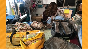 Tyler woman creates bags from retired firefighter gear, army uniforms, other unique materials
