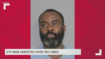 East Texas man racks up 100th arrest since 2000 in Angelina County