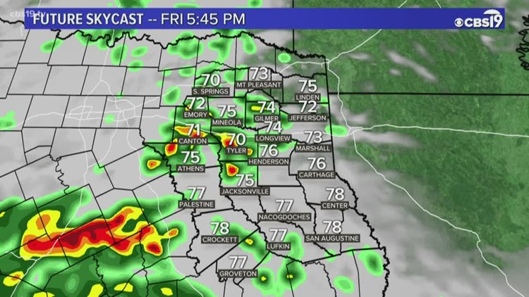 Rain and storms are returning to East Texas today!