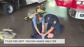 Tyler Fire Dept. teaches how to do hands only CPR