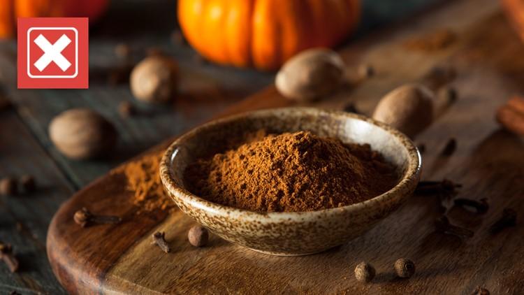 No, pumpkin spice doesn't actually contain pumpkin