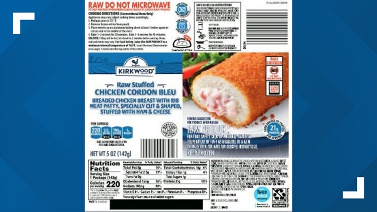 Nearly 60,000 pounds of breaded chicken recalled due to salmonella risk