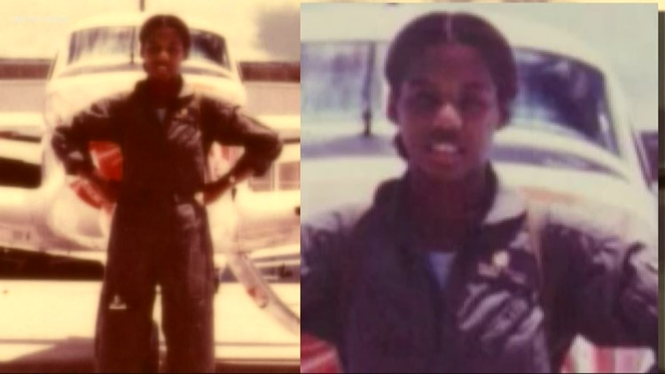 Navy's first African American female pilot