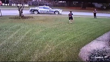 SC police officer tosses football with boy after noticing he was playing alone