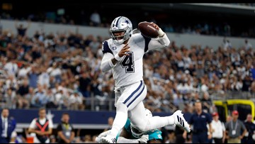 Prescott, Cowboys get out of funk, ease past Dolphins 31-6