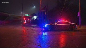 1 person dead after car flipped into Dallas creek during storms