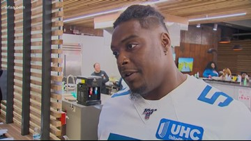Dallas Cowboys players visit center for homeless youth in Dallas ISD